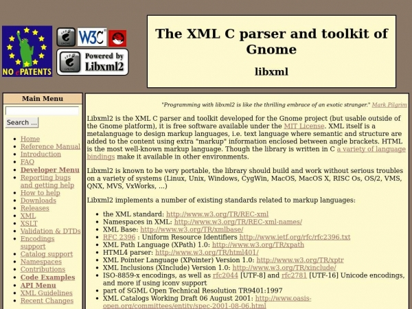 xmlsoft.org